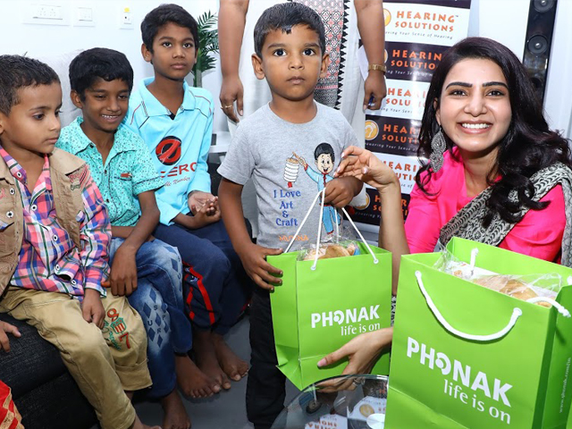 Samantha Participated In A Social Initiative Taken Up By Phonak