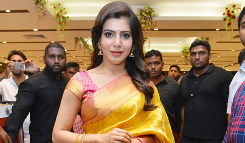 Samantha New Wedding Sari Stills