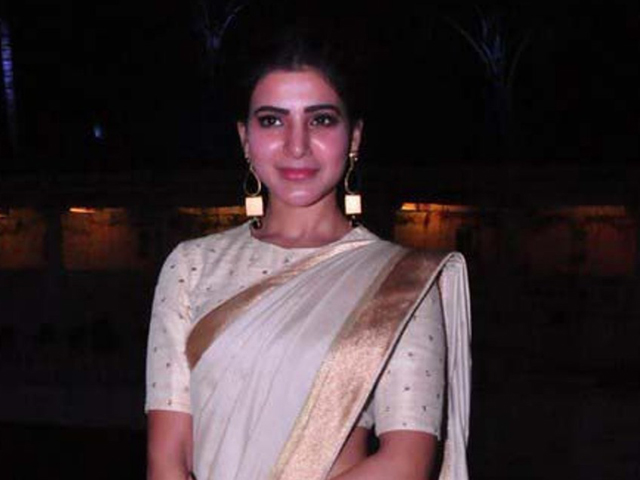 Samantha Wet Saree Photos