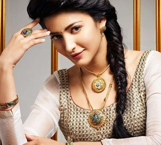 Shruti Haasan Jewellery Ad PhotoShoot