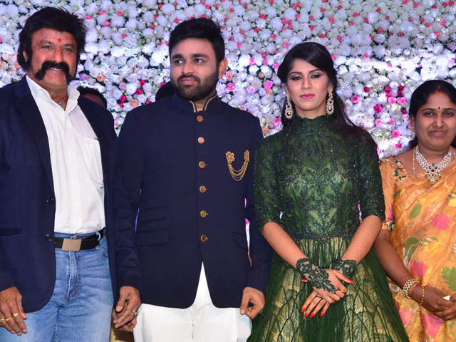 Balakrishna at Talasani Srinivas Yadav Daughter Swathi Reception Photos