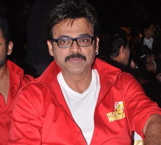 Venkatesh at Telugu Warriors CCL 4 Logo Launch