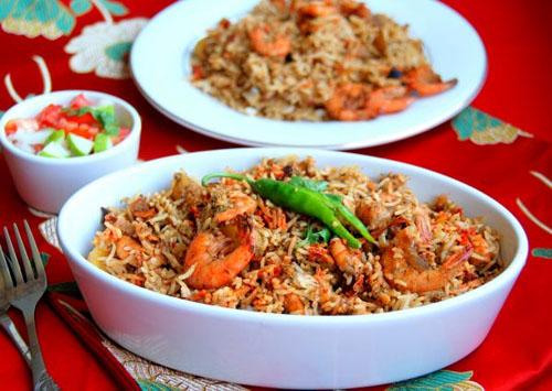 Indian food recipes telugu recipes andhra recipes andhra prawns biryani recipe forumfinder Images
