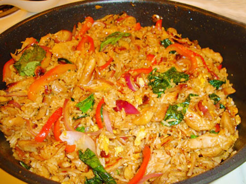 Spicy Chicken Masala Rice