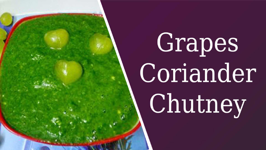 Grapes Coriander Chutney