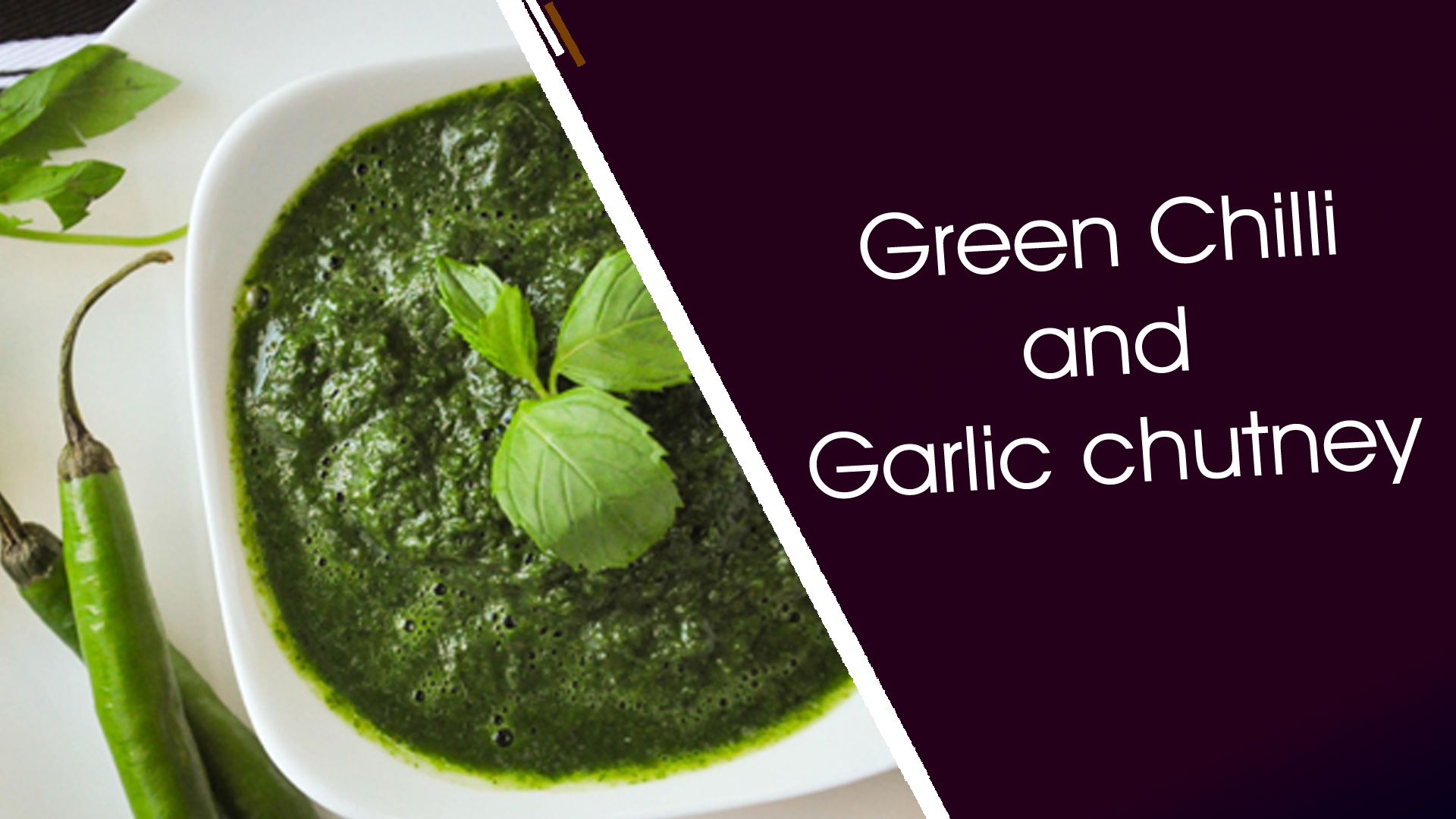 Green Chilli and Garlic Chutney
