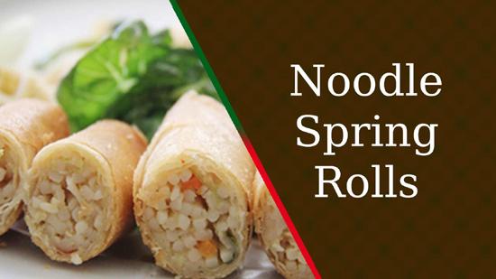 Noodle Spring Rolls