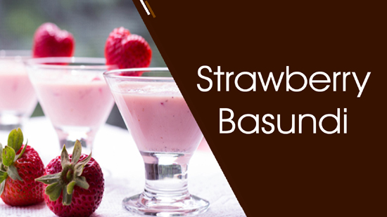 Strawberry Basundi Recipe