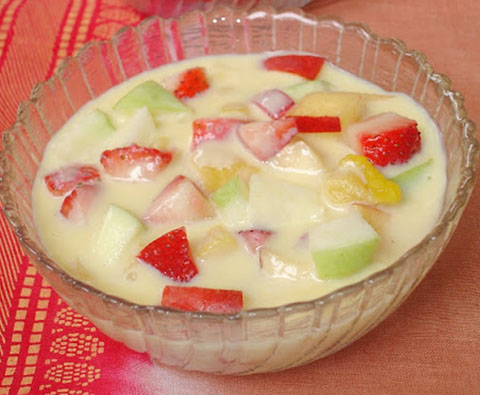 Milk Fruit Salad | Milk Fruit Salad | Indian fruit salad ...