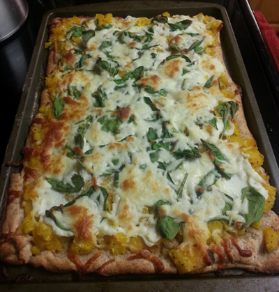 Spinach and Squash Pizza