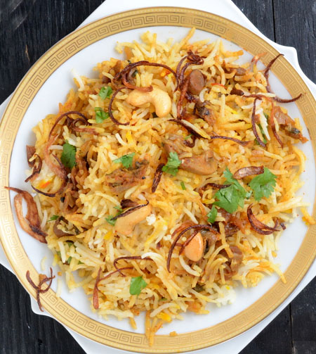 Shahi Mushroom Biryani