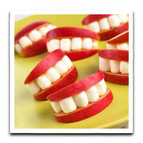 halloween teeth recipe halloween fangs recipe halloween party recipes easy halloween recipes halloween recipes halloween fruit apple teeth recipe