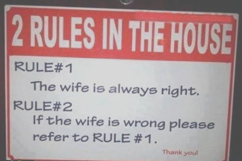2 Rules in The House Rules For Husband | House Rules