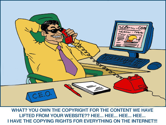Read and enjoy best collection of Copyright Law Jokes and Cartoons by teluguone comedy