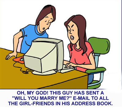Computer Virus Email Cartoons and Comics funny pictures from teluguone