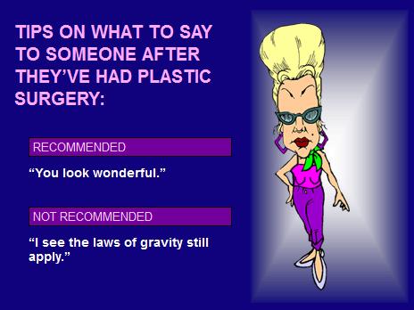 Plastic Surgery Plastic Surgery Jokes Cartoons Celebrity
