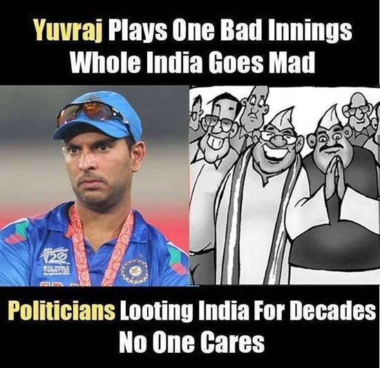 Politicians Looting india Latest Yuvaraj Singh web comics and cartoons ...