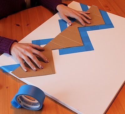 Easy Chevron Painting | Free Chevron Patterns | How to Make Chevron ...