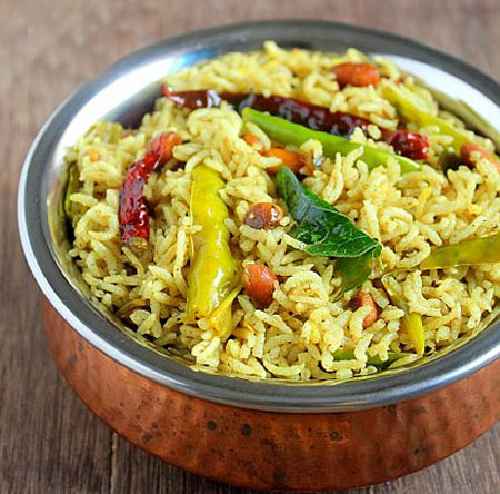 Pulihora Andhra Tamarind Rice, Sankrati Special Recipes Tamarind Pulihora, Tamarind Pulihora Recipe