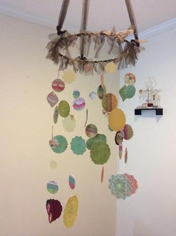 Dreamy paper chandelier dreamy paper chandelier handmade dreamy paper chandelier aloadofball Gallery