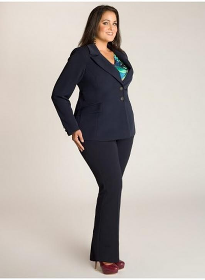 Who Said Plump Plus Size Can T Wear Suits It S The Thing Of Past And With New Trend In Wearing Western To Office Pants Have Become A