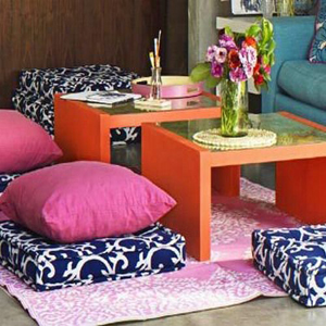Decorating Spaces with Floor Pillows | Decorating Spaces with Floor ...