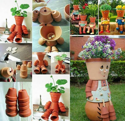 Flower pot arrangements for the garden flower pot for Garden arrangement