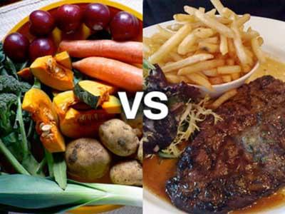 Difference between Vegan and Vegetarian diet!