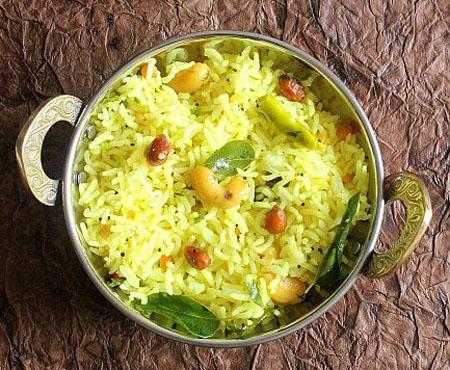 Indian Recipes of Sankranti FestivalNimmakaya Pulihora, Lemon Rice Nimmakaya Pulihora, Lemon Pulihora Preparation, Lemon Rice Recipe in Telugu, Indian Lemon Rice Recipe