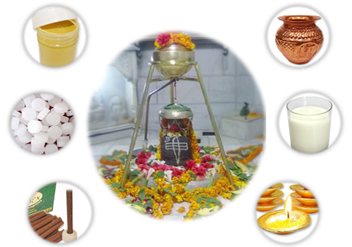 Abhishekam the Shiva deity with the following is considered fruitful. Milk gives long life ... Some of the common items used for Shiva Abhisheka are 1. Curd 2. Milk 3. Honey, ABISHEKA NAME - ITS EFFECTS PANCHAGAVYAM