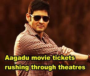 Aagadu movie tickets rushing through theatres
