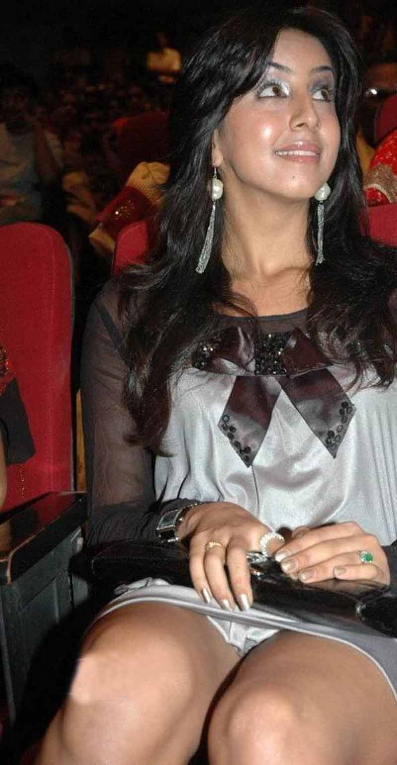 Sanjana was spotted at a public function
