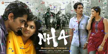 NH 4 review, NH 4 Movie Review, NH 4 Telugu Movie Review, NH 4 movie rating, NH 4 Talk, NH 4 Bangalore to Chennai Review