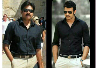 Powerstar pawan kalyan, young rebel star prabhas, black formals, crazy fan following, handsome, smartest