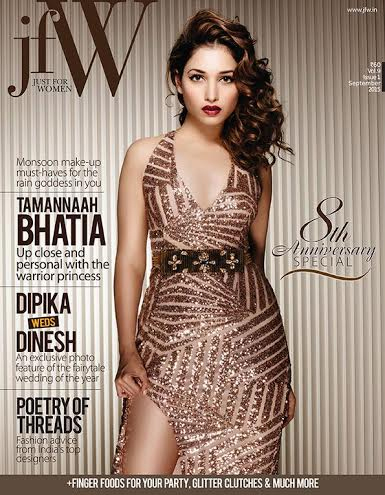 This Time She Adored The Jfw Just For Women Mags Cover On Their 8th Anniversary Flaunting Her Sexy Curves Tamanna