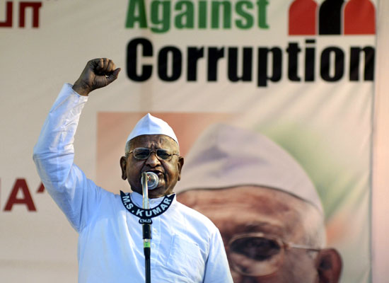 anna hazares movement against corruption Victory of veteran anna hazare's crusade against corruption the website of the india against corruption movement calls victory of veteran anna.