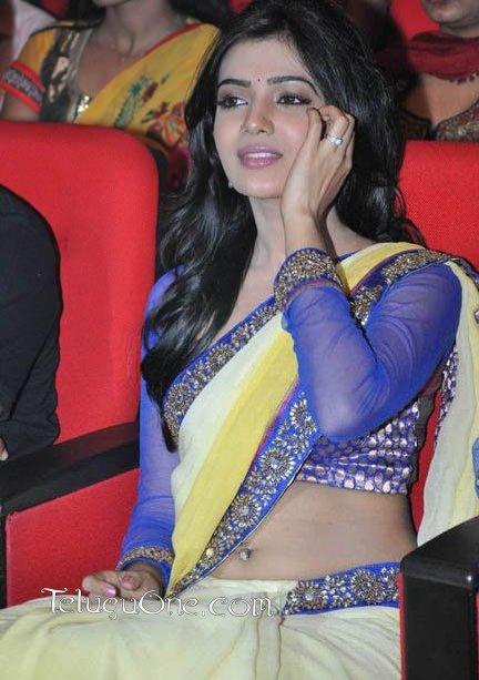 Hot Samantha Belly Button Ring @ Dookudu Audio Function| Samantha Hot Actress Photos