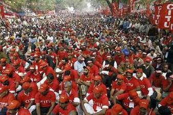 Trade Union Strike Hits Normal Life Across India