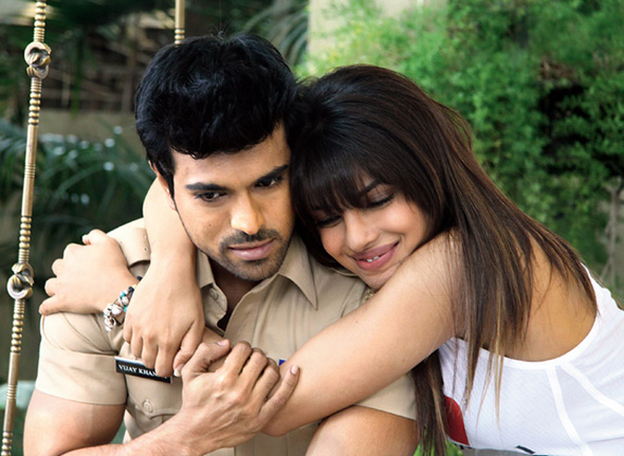 Priyanka and Ram Charan in Zanjeer South India