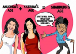 Funny Cartoon Shahrukh Khan Age Calculation