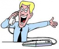 Customer with Call centre officer