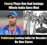 Yuvraj's Bad Inning in T20 WC Final vs Politicians