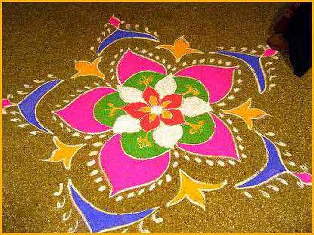 Tone for Floor rangoli design
