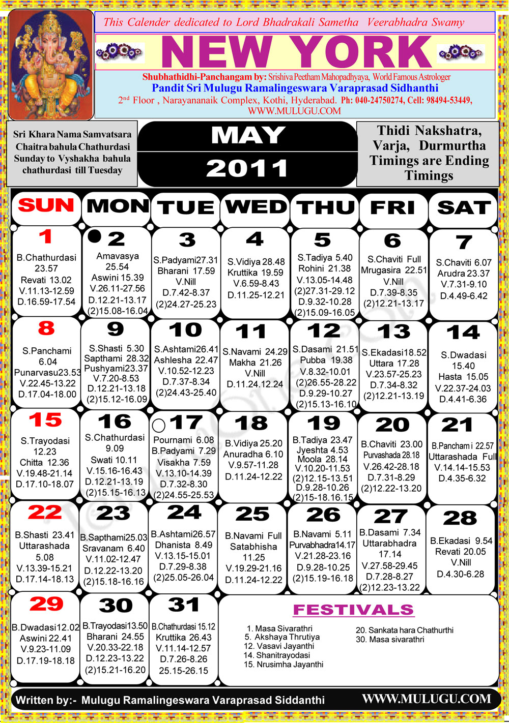 May Calendar New York : New york telugu calendar astrology online