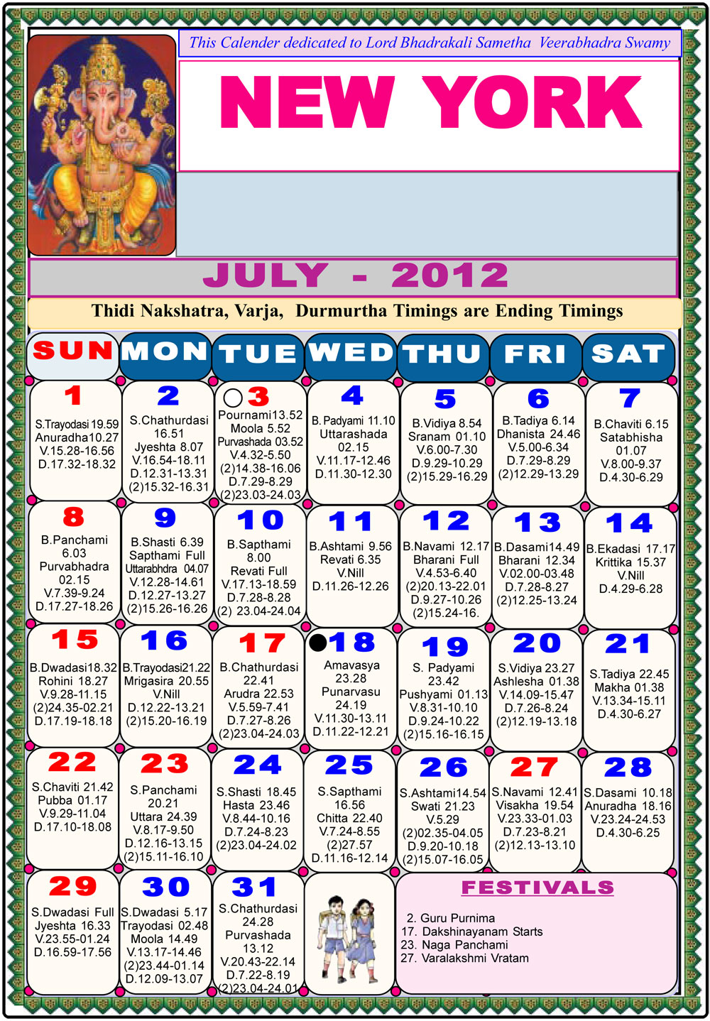 new york telugu calendar 2012-astrology online