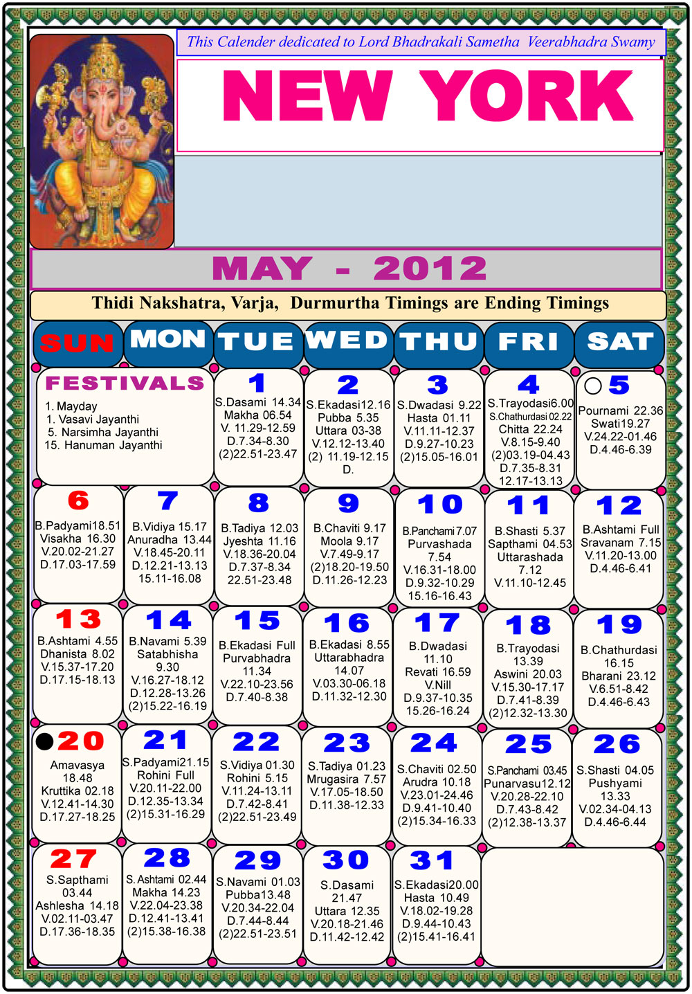 "May Calendar New York : Search results for ""telugu newyork calendar"