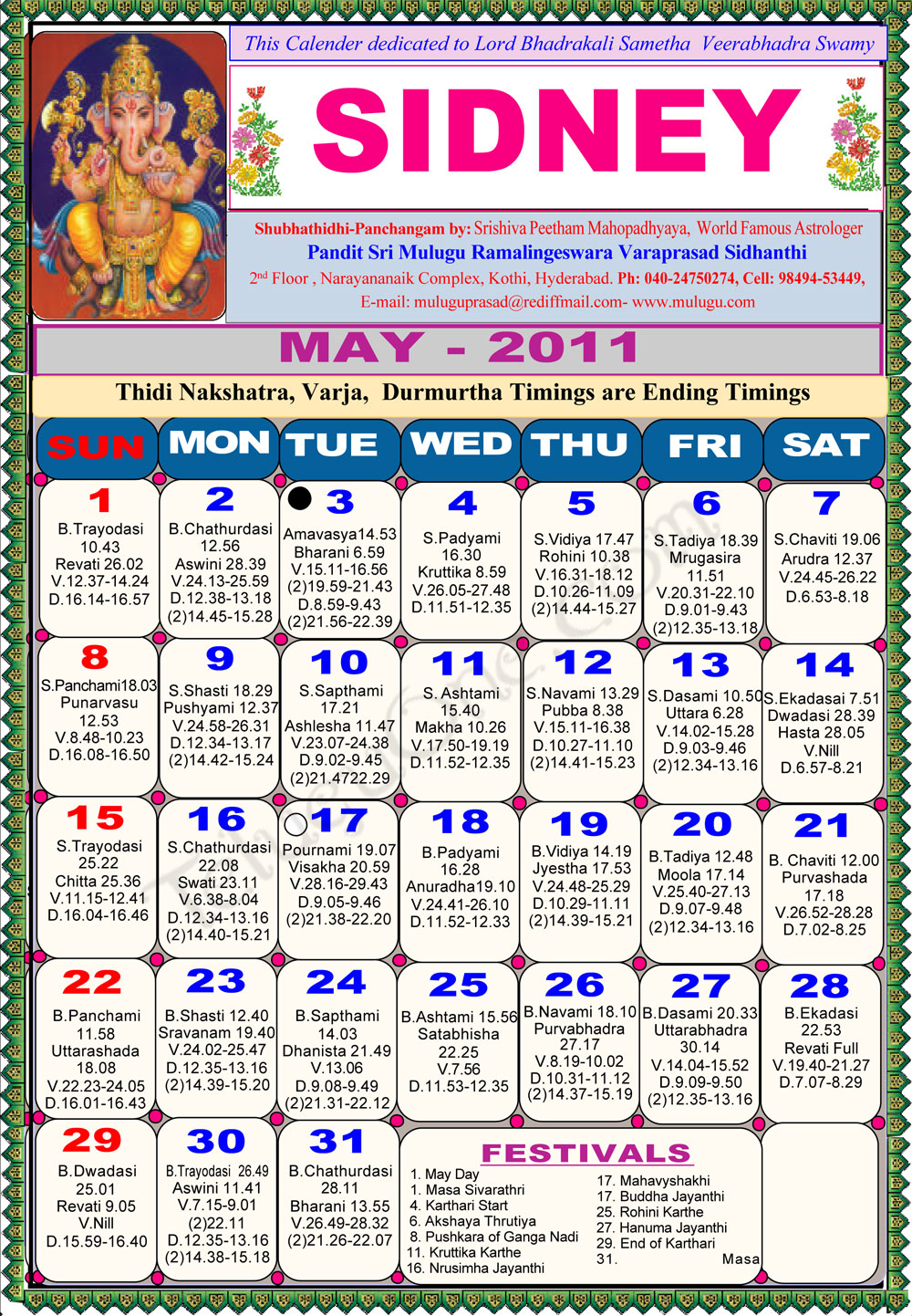 April Calendar Nsw : Sydney telugu calendar astrology online horoscope