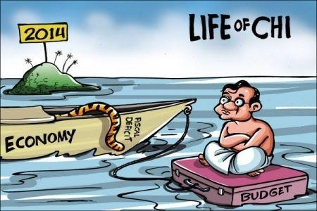 Huge List of Political Cartoons About Life of Chi Chidambaram budget for 2014