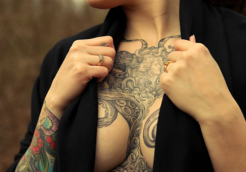 Angel Wings Chest Tattoos