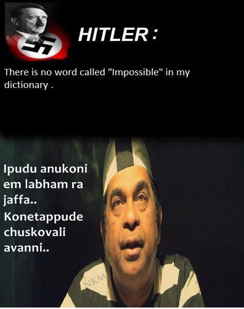 Brahmi Satire on Hitler | brahmanandam jaffa images | brahmanandam